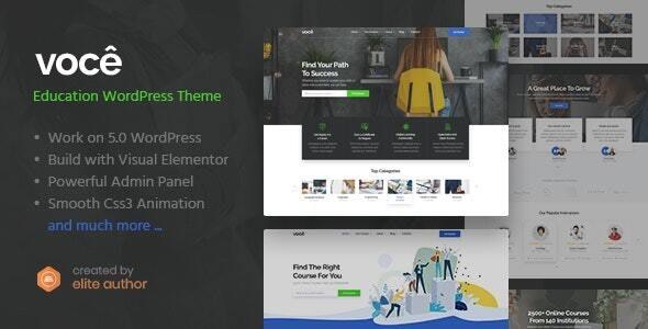 Vocee - Education & LMS WordPress Theme - Education WordPress