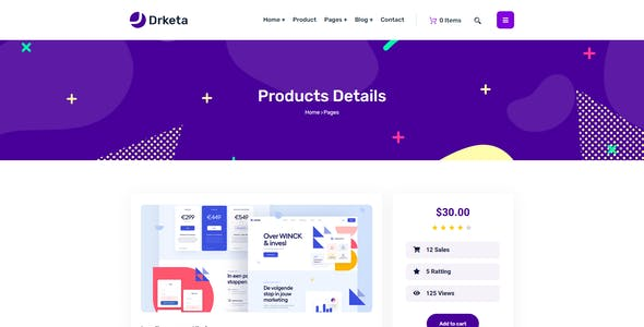 Drketa - Digital Marketplace React Template