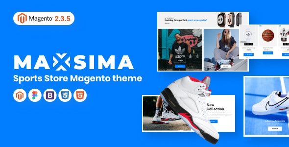 Maxsima - Sports eCommerce Magento 2 Theme - Shopping Magento