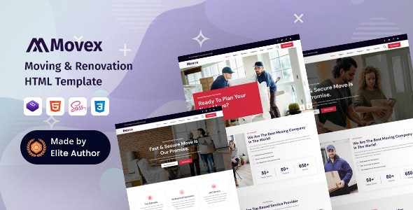 Movex - Moving & Renovation Services HTML Template - Business Corporate