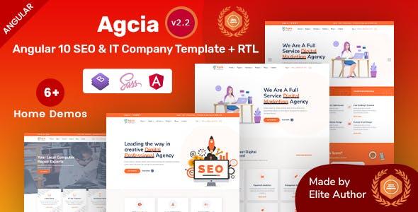 Agcia - Angular 10 SEO & IT Company Template