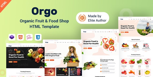 Orgo - Organic Food Shop HTML Template - Food Retail