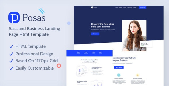 Posas - Saas Software Landing Page Template - Software Technology
