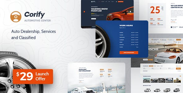 Corify - WordPress Car Directory Listings & Dealership Theme