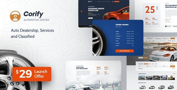 Corify - WordPress Car Directory Listings & Dealership Theme