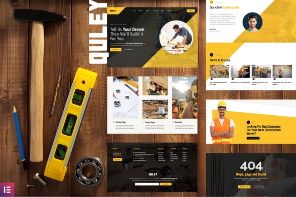 Quley - Construction & Engineering Elementor Template Kit - Real Estate & Construction Elementor