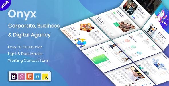 Onyx - Responsive Multi-Purpose html template - Corporate Site Templates