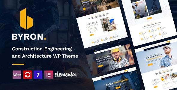 Byron   Construction and Engineering WordPress Theme - Corporate WordPress