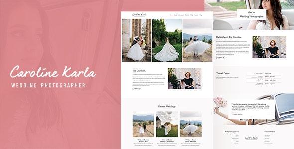 CKARLA - Minimal Wedding Photography Template - Wedding Site Templates