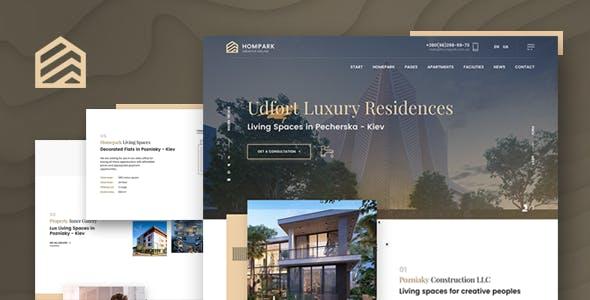 Hompark | Real Estate & Luxury Homes Joomla Template