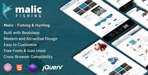 Malic - Fishing & Hunting Club Joomla Template
