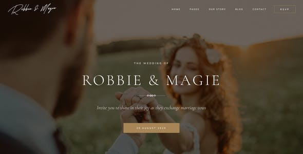 Robbie & Magie – Wedding Event Invitation Sketch Template