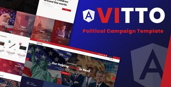 Vitto | Voting Election Angular Template - Political Nonprofit