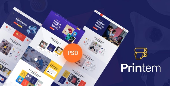 Printem - Printing Company  PSD Template - Business Corporate