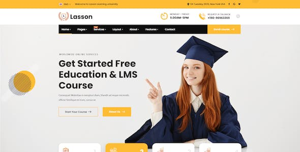 Lasson - Education and LMS XD Template