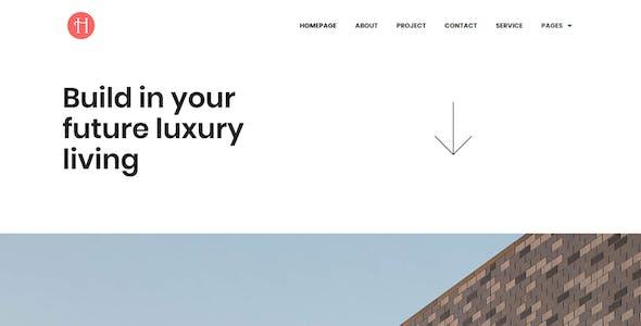 Halse - Architecture & Interior Design Elementor Template Kit