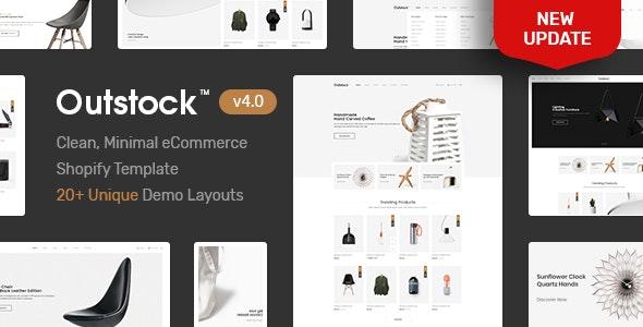 Shopify  - Outstock  Clean, Minimal , Drag & Drop - Shopping Shopify
