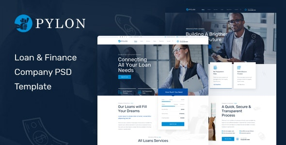 Pylon - Loan & Finance Company PSD Template - Business Corporate