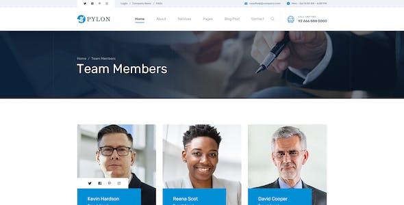 Pylon - Loan & Finance Company PSD Template