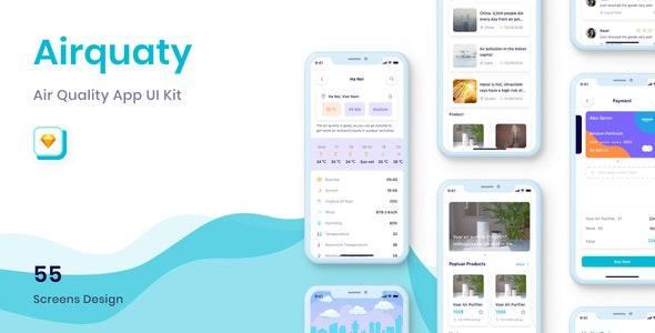 Airquaty - Air Quality App UI Kit - UI Templates