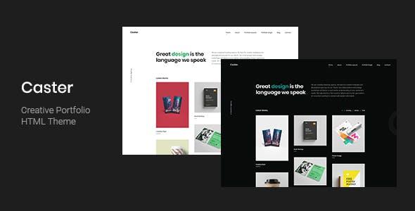 Caster - Creative Portfolio HTML Template
