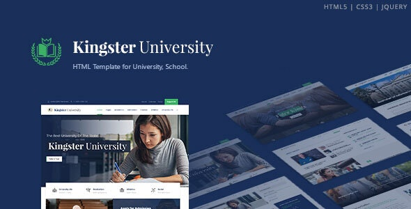Kingster - Education HTML Template - Corporate Site Templates