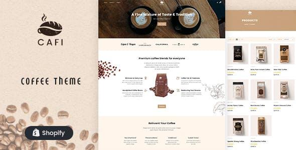 Cafi - Coffee Shops & Cafés Responsive Shopify Theme