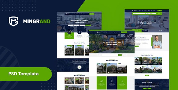 Mingrand – Real Estate PSD Template - Corporate Photoshop