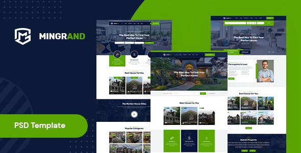 Mingrand – Real Estate PSD Template