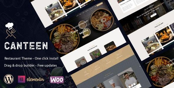 Canteen - Restaurant WordPress Theme - Food Retail