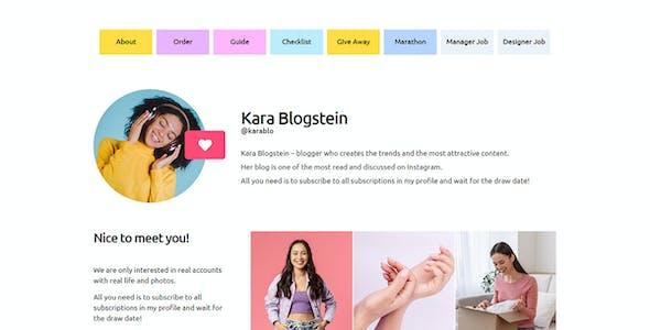 BLOGGA - Instagram Blogger Elementor Template Kit