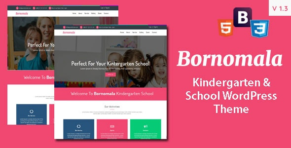Bornomala - Kindergarten & School WordPress Theme - Education WordPress