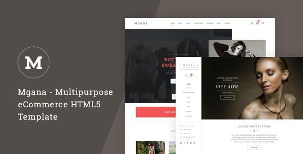 Mgana - Multipurpose eCommerce HTML5 Template