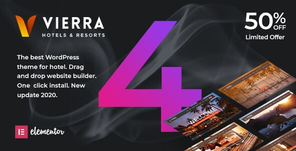Vierra - Hotel, Resort, Inn & Booking Elementor WordPress Theme - Travel Retail