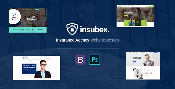 Insubex | Insurance Multipurpose PSD Template - Business Corporate