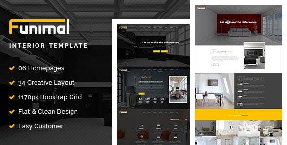 Funimal - Premium Furniture/Interior Joomla Template