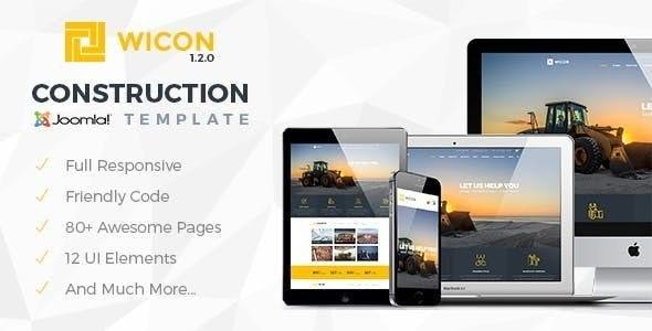 WICON   Construction & Building Joomla Template - Corporate Joomla