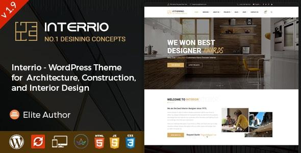 Interrio – WordPress Theme for Architecture and Interior Design - Business Corporate
