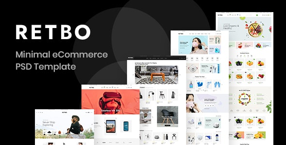 Retbo - eCommerce PSD Template - Shopping Retail