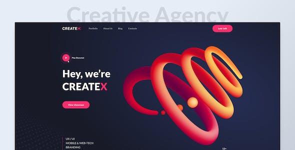 Createx - Multipurpose Website Templates for Figma