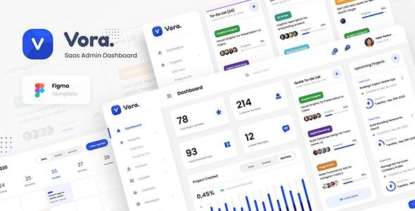 Vora - Saas Admin Dashboard UI Design Template Figma - Miscellaneous Figma