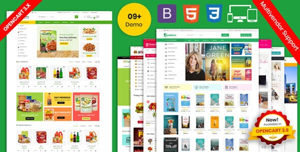 Grocery and Shopping OpenCart 3.X Multistore Theme (Shopping, Mall) - Shopping OpenCart