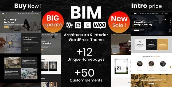 BIM - Architecture & Interior Design Elementor WordPress Theme