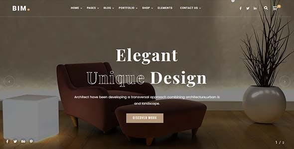BIM - Architecture & Interior Design Elementor WordPress Theme