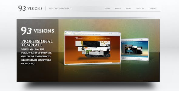 93VISIONS - 4 in 1 Modern & Professional HTML Template