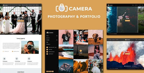 Camera - Photography and Portfolio Joomla Template - Joomla CMS Themes