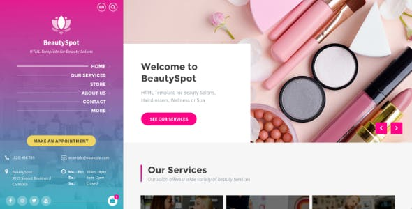 BeautySpot - Beauty Salon HTML Template
