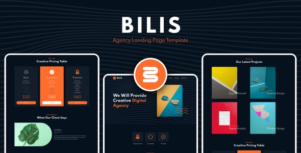 Bilis - Agency Landing Page Template - Business Corporate