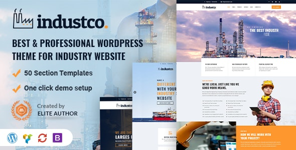 IndustCO | Industry & Factory WordPress Theme - Business Corporate
