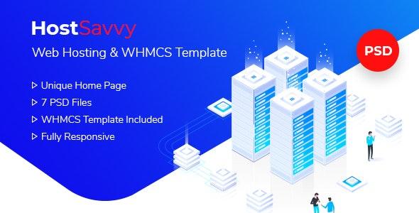 HostSavvy - Web Hosting and WHMCS PSD - Hosting Technology